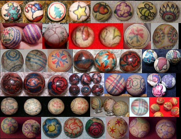 When were clay marbles made